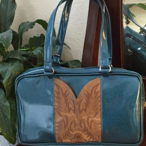 Teal Cowgirl Business Bag