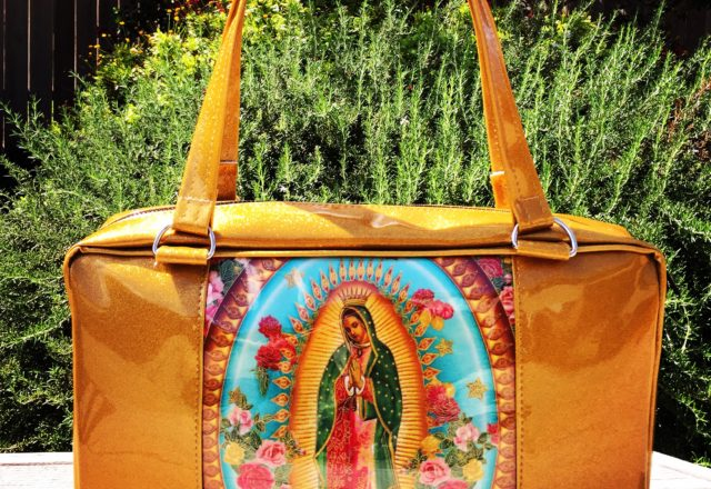 Gold Guadalupe Business Bag